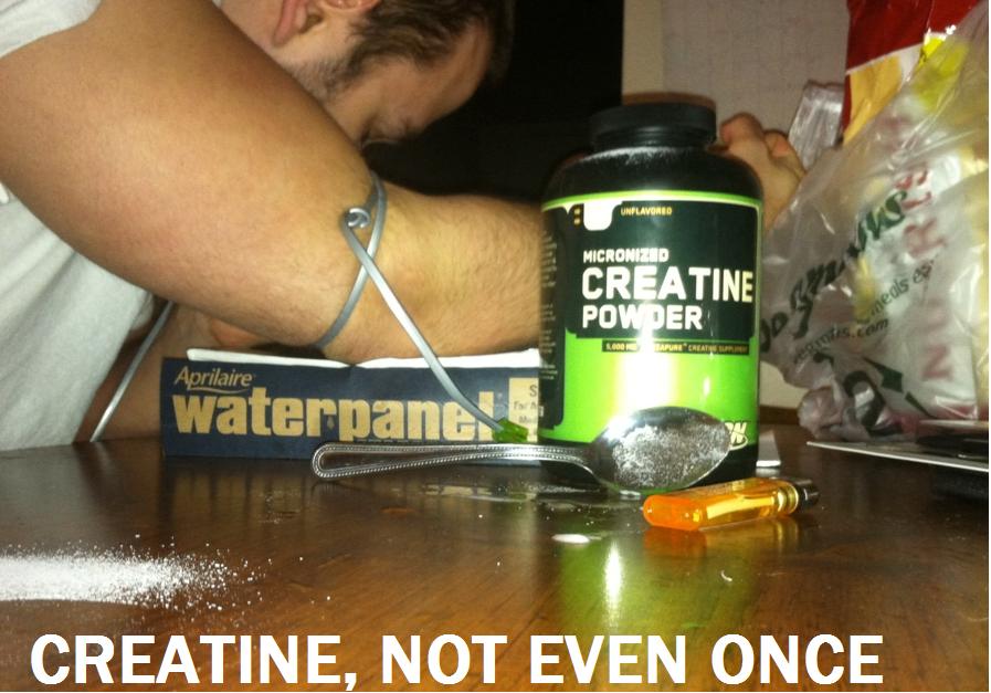 Creatine: niet eens eenmalig.